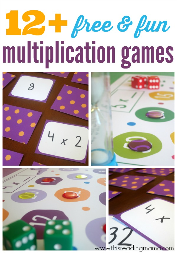 12+ Free Multiplication Games for Kids - This Reading Mama