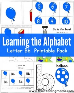 Learning the Alphabet - Letter B Printable Pack {FREE} - This Reading Mama