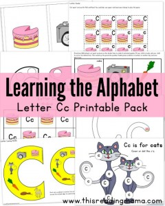 Learning the Alphabet - Letter C Printable Pack