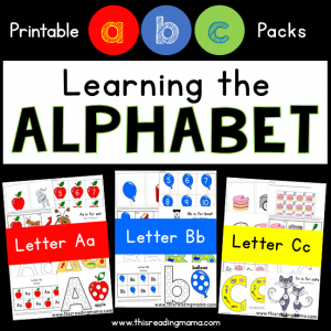Learning the Alphabet - Printable ABC Packs - This Reading Mama