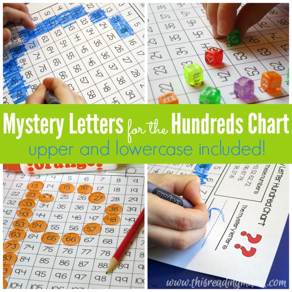 Mystery Letters for the Hundreds Chart {FREE} - This Reading Mama