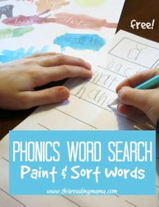 Phonics Word Search - Paint and Sort Words