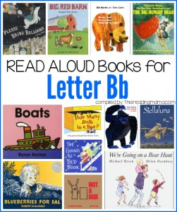 Read Aloud Books for Letter B Book List