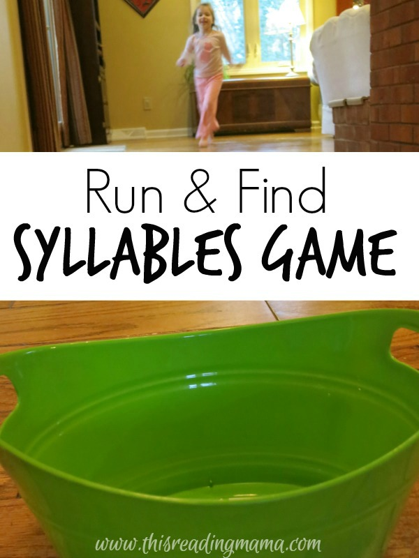 Run and Find Syllables Game ~ Get kids MOVING!