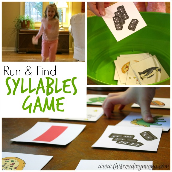 Run and Find Syllables Game for Indoor Learning This Reading Mama