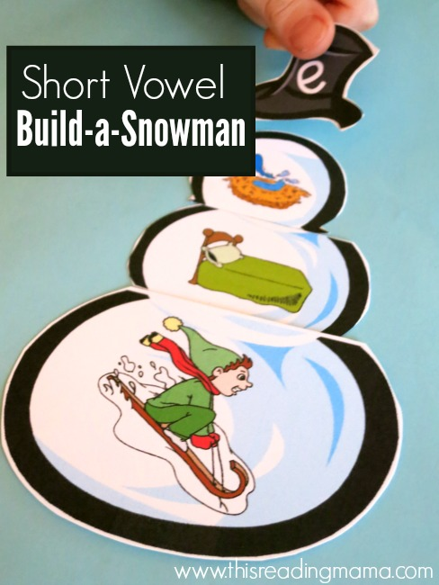 Short Vowel Build-a-Snowman {FREE} - This Reading Mama