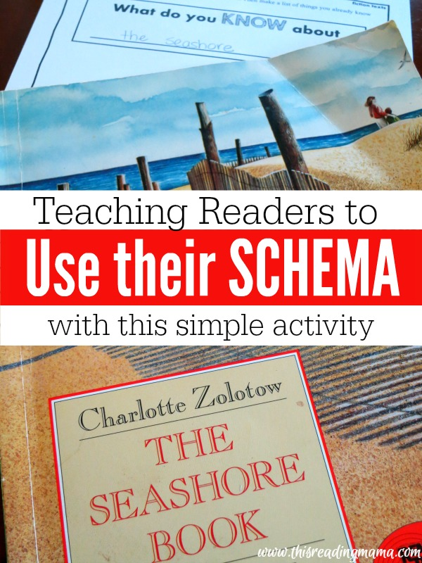 Teaching Readers to Use their Schema ~ FREE Printable Pack included | This Reading Mama