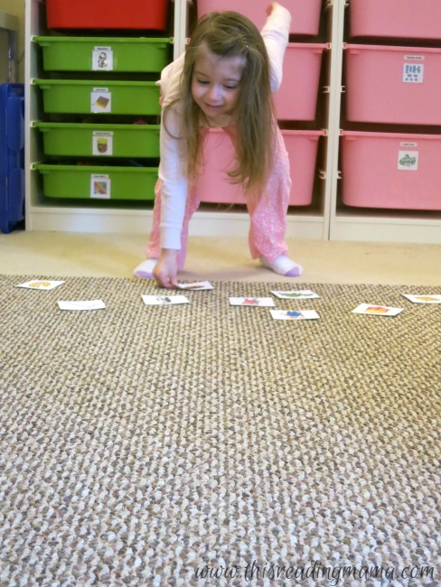 alphabet flashcards relay race