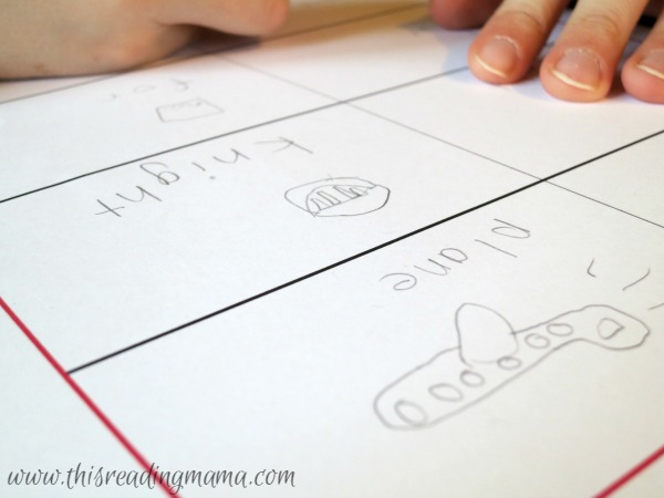 drawing and spelling homophones