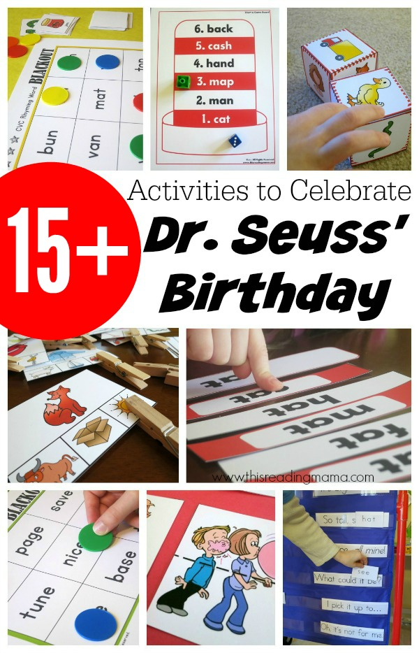 15+ Activities to Celebrate Dr. Seuss Birthday - This Reading Mama