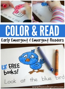 Color and Read Pack - Early Emergent and Emergent Readers - This Reading Mama