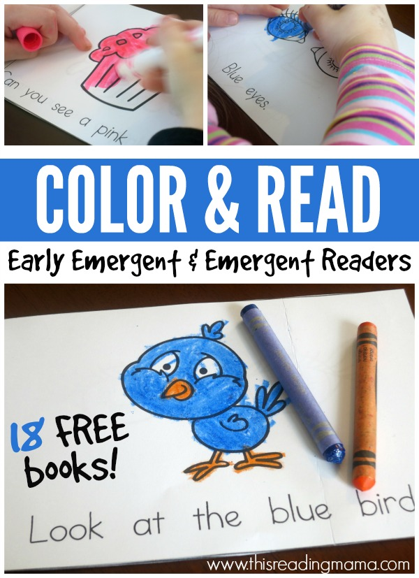 Color and Read Emergent Readers {Updated}