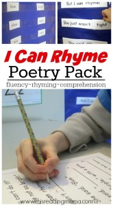 I Can Rhyme- FREE Poetry Pack - This Reading Mama