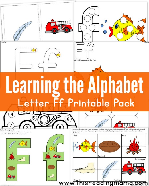 learning the alphabet letter f printable pack this reading mama