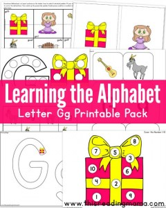 Learning the Alphabet- FREE Letter G Printable Pack