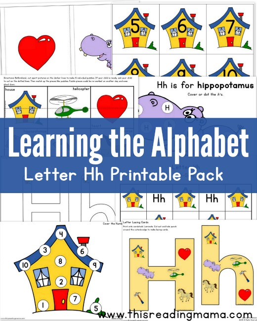 Learning The Alphabet Free Letter H Printable Pack