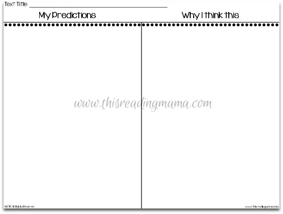 3 Activities for Making Predictions – Making Predictions Worksheet