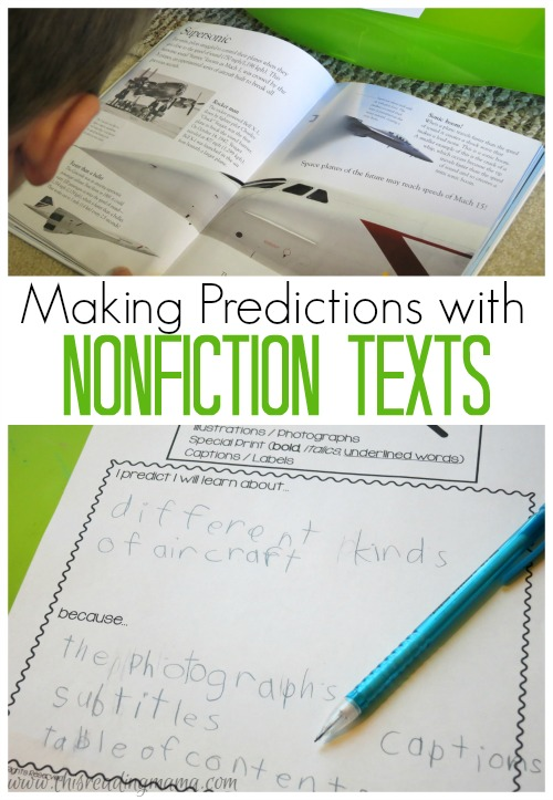 making predictions with nonfiction texts