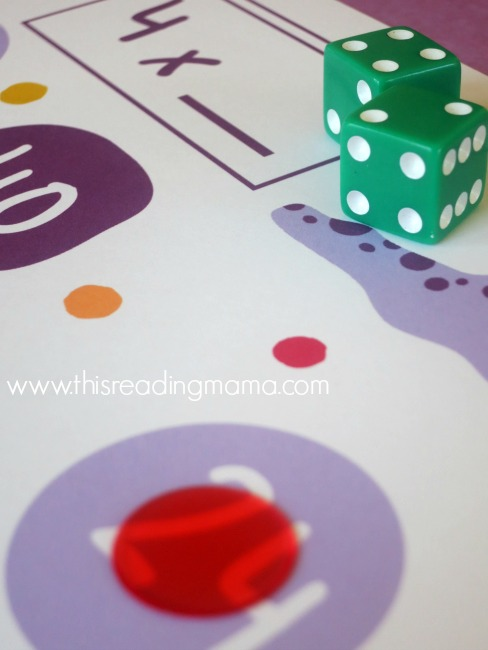 roll, add, multiply, and cover product on game board