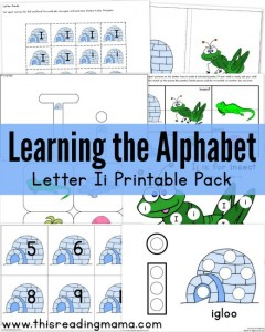 Learning the Alphabet - FREE Letter I Pack