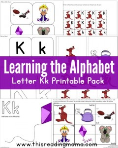 Learning the Alphabet - FREE Letter K Printable Pack - This Reading Mama