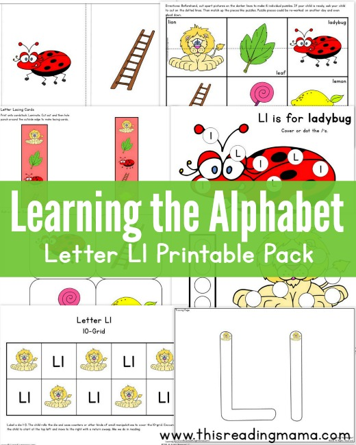 learning the alphabet free letter l printable pack this reading mama