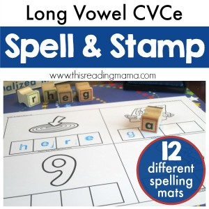 Long Vowel CVCe Spell & Stamp - FREE - This Reading Mama