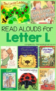 Read Alouds Book List for the Letter L