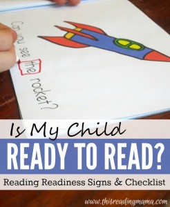 Ready to Read - Reading Readiness Signs and Checklist