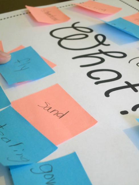 using basic signal word mats to teach kids to summarize text
