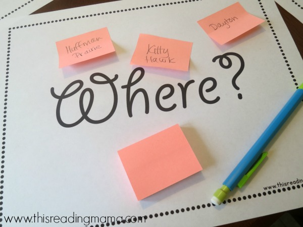 using sticky notes to find basic signal words