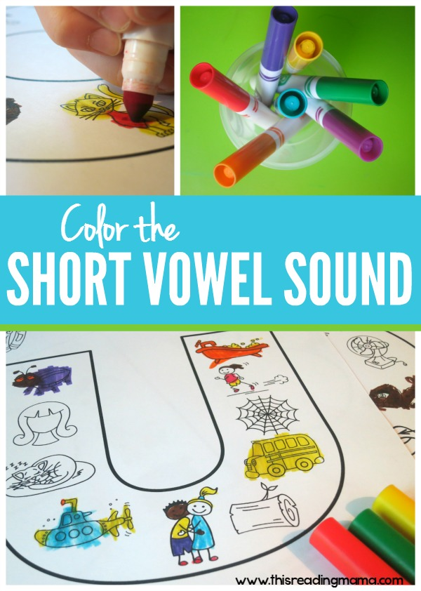 Short Vowel Sound Coloring Pages {10 FREE Pages} - This Reading Mama