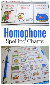 FREE Homophone Spelling Charts - This Reading Mama
