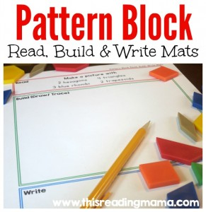 FREE Pattern Block - Read Build and Write Mats - This Reading Mama