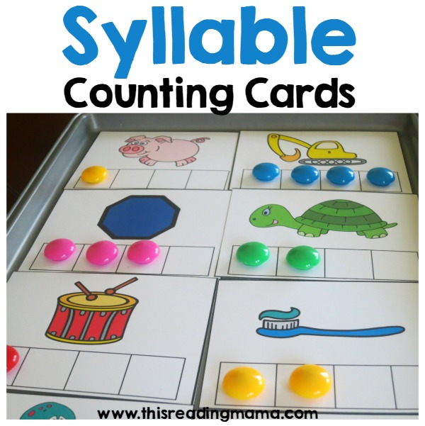 FREE Syllable Counting Cards