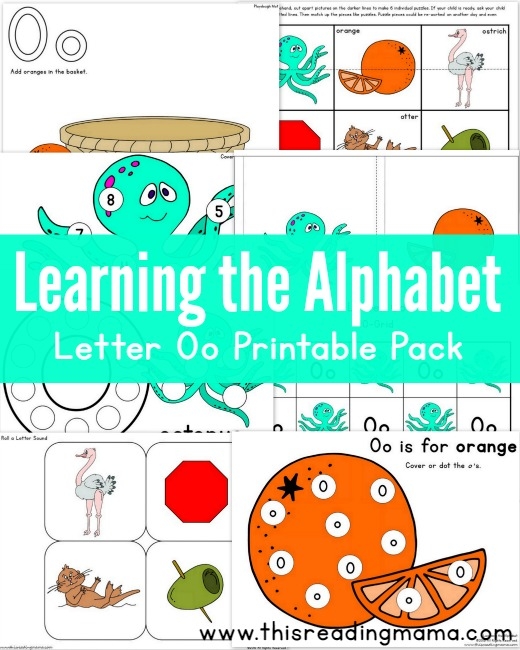 learning the alphabet free letter o printable pack this reading mama