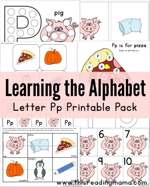 learning the alphabet letter p printable pack this reading mama. Black Bedroom Furniture Sets. Home Design Ideas
