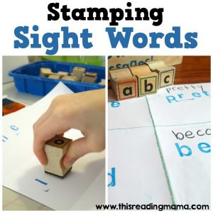 Stamping Sight Words - low prep and easy - This Reading Mama