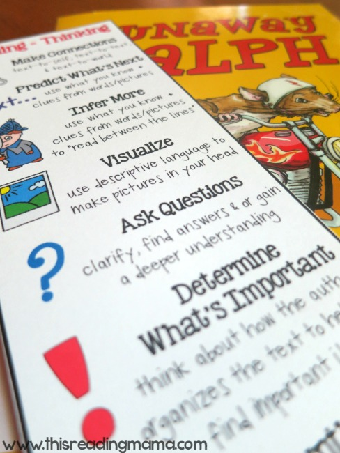 reading comprehension book mark