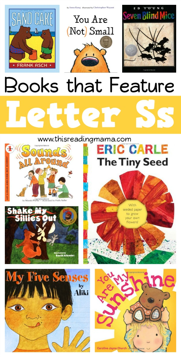 Books that Feature the Letter S - Book List for Letter S - This Reading Mama