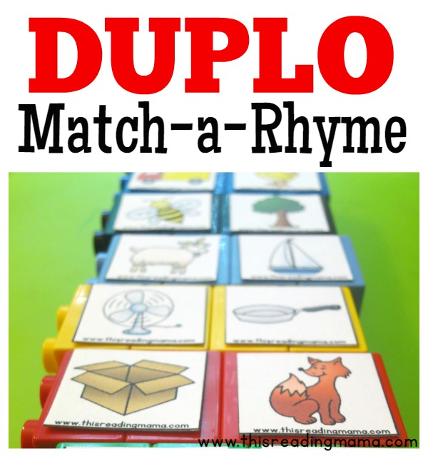 DUPLO Match-a-Rhyme Game - This Reading Mama