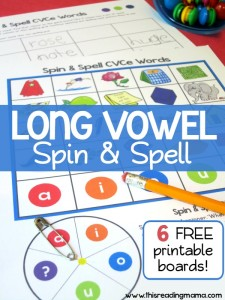 FREE Long Vowel Spin and Spell (CVCe words) - a Long Vowel Spelling Game - This Reading Mama