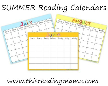 FREE Summer Reading Calendars - This Reading Mama