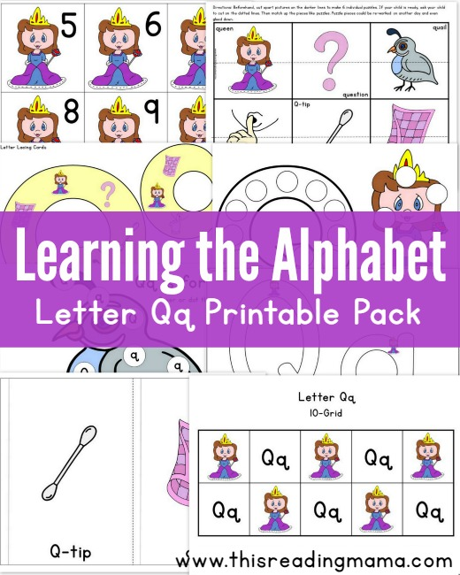 Learning the Alphabet: FREE Letter Q Printable Pack - This Reading ...