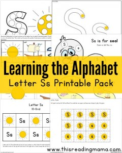 Learning the Alphabet - FREE Letter S Printable Pack - This Reading Mama