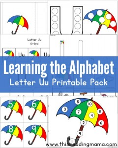 Learning the Alphabet - FREE Letter U Printable Pack - This Reading Mama