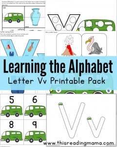 Learning the Alphabet - FREE Letter V Printable Pack - This Reading Mama