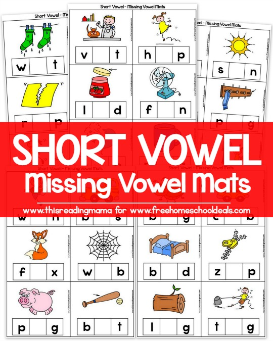 Short Vowel - Missing Vowel Mats