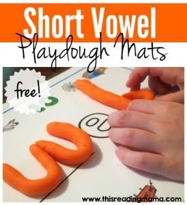 Short Vowel Playdough Mats - 5 FREE Spelling Mats - This Reading Mama