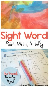 Sight Word Paint-Write-Tally - This Reading Mama